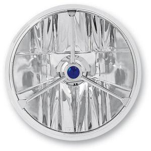 Adjure T70403 7in. Wave-Cut Trillient Headlight with Blue Dot