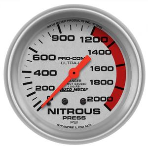 AutoMeter 4428 Ultra-Lite Mechanical Nitrous Pressure Gauge