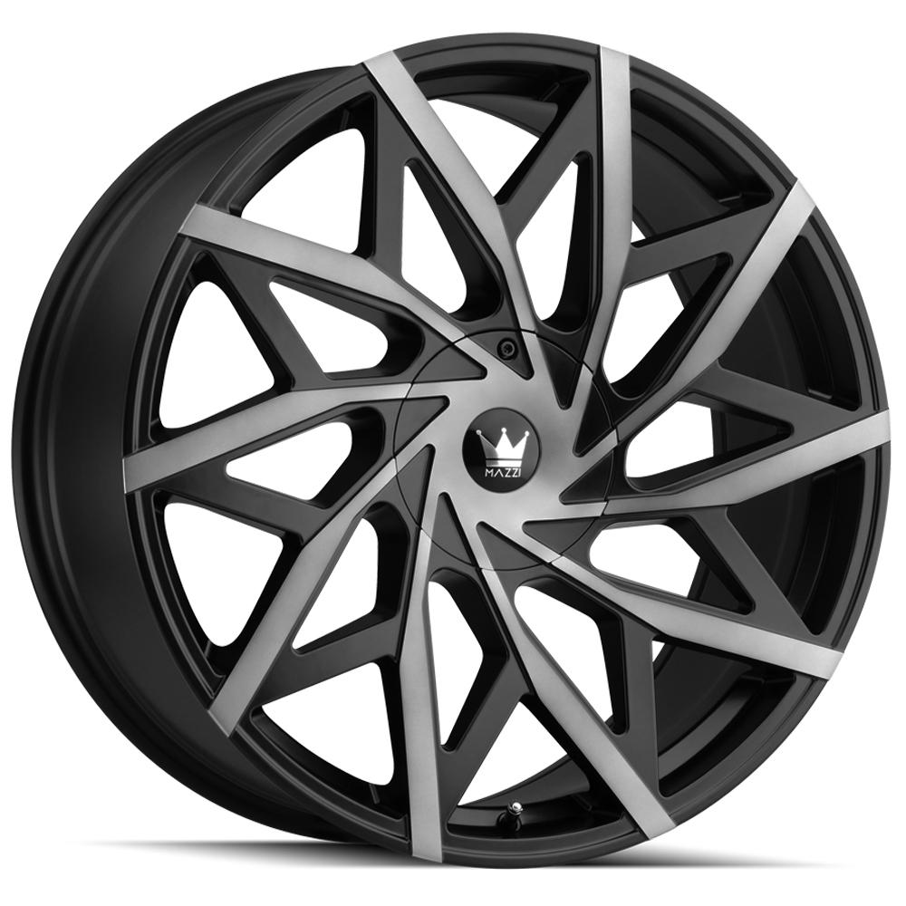 Mazzi 372 Big Easy 24x9.5 5x115/5x120 +18mm Black/Machined/Tint Wheel Rim d Inch