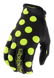 Troy Lee Designs 2018 Air Gloves Polka Dot Black/Flo Yellow Adult Size S