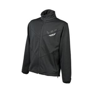 Fly Racing Mid Layer Jacket (Black, Small)