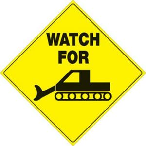 Voss 496 WG YR 12x12in. Reflective Trail Sign - Watch for Groomer (Yellow/Black)