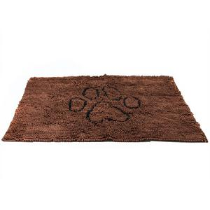 Dog Doormat Super Absorbent Micro Fiber Mat for Dirty Dogs, Cats, Pets - Brown