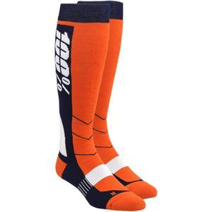 100% Hi Side Riding Socks (Orange, Small - Medium)