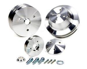 MARCH PERFORMANCE Aluminum SBC V-Belt Performance Series Pulley Kit P/N 5070