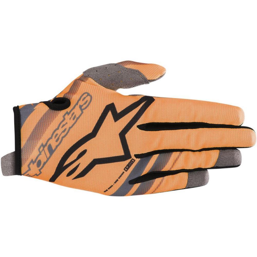 Alpinestars Radar Flight Youth Gloves Orange/Black (Orange, Medium)