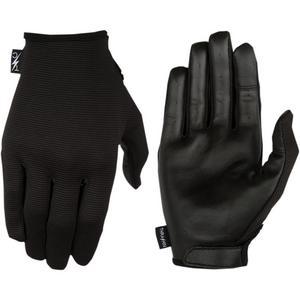 Thrashin Supply Company Stealth Leather Palm Gloves (Black, Small)