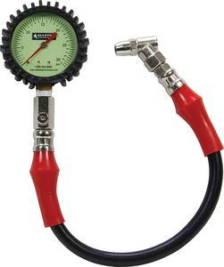 ALLSTAR PERFORMANCE 0-30 psi Glow in the Dark Tire Pressure Gauge P/N 44057