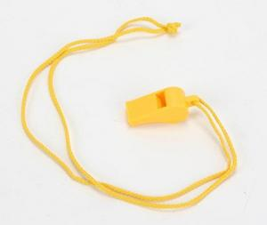 Atlantis A2712 Whistle with Neck Cord - Yellow