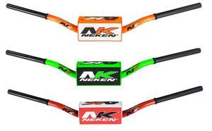 "Neken Handlebars 1 1/8"" Motorcycle Bars 133 Conical Bend Orange"