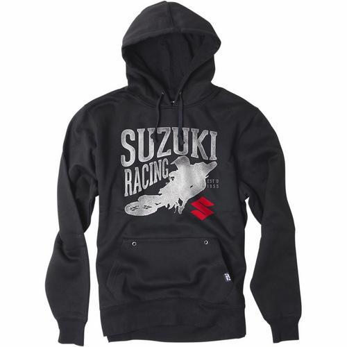 Factory Effex Suzuki Youth Hoody (Black, Medium)