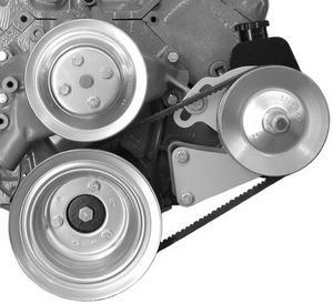 ALAN GROVE COMPONENTS BBC Driver Side Power Steering Pump Bracket Kit P/N 407L
