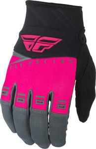 Fly Racing F-16 Youth Gloves Neon Pink/Black/Gray (Pink, 6)