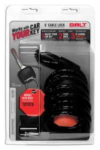 BOLT 6FT. CABLE LOCK TOYOTA