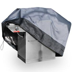 "Premium Waterproof Barbeque BBQ Grill Cover X-Large 71"" Length Dark Grey with Black Hem - 100% Waterproof Barbecue Propane Gas Grill Winter Storage Cover"