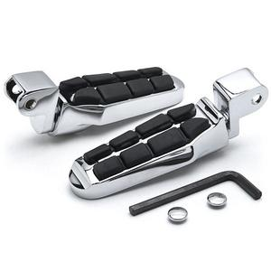 Krator Tombstone Motorcycle Foot Peg Footrests Chrome L&R For Honda 1100 Shadow Ace 1995-1996 Front