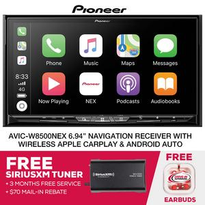 "Pioneer AVIC-W8500NEX 7"" Nav. Wireless CarPlay & A. Auto + Free SiriusXM Tuner"