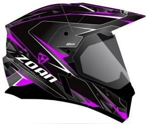 Zoan Synchrony Duo-Sport Hawk Graphics Snow Helmet with Electric Shield Magenta (Pink, XX-Large)