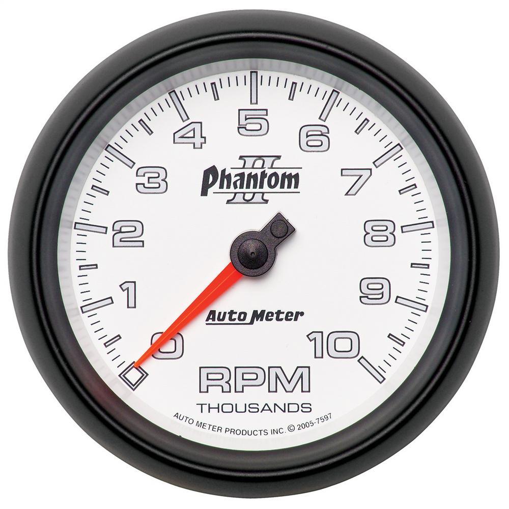 AutoMeter 7597 Phantom II In-Dash Tachometer
