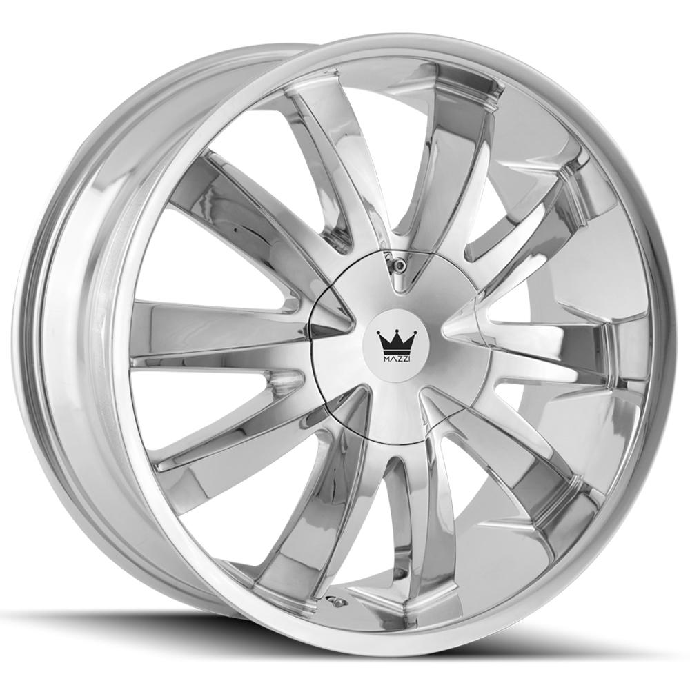 "Mazzi 337 Edge 18x7.5 5x110/5x115 +40mm Chrome Wheel Rim 18"" Inch"