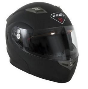 Zoan Flux 4.1 Solid Helmet Matte Black (Black, Large)
