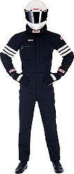 SIMPSON SAFETY Black/White Stripes Large Driving Jacket P/N 0402312