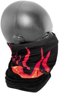 Zan Headgear Combo Motley Tube Black with Orange Flames (Black, OSFM)