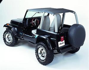 Bestop Bikini Top, Strapless Safari-style - Jeep 1992-1995 Wrangler; Safari