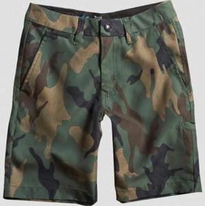 Fox HydroEssex Youth Shorts (2014) Green Camo (Green, 26)