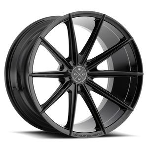 "19"" BLAQUE DIAMOND BD11 BLACK CONCAVE WHEELS RIMS FITS MERCEDES W221 S550 S63"