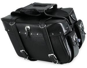 All American Rider 9086RP Box Style Slant Saddlebag - Rivet - X-Large - 21in.L x 6in.W x 11in.H