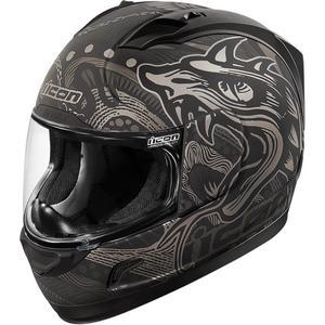 Icon Alliance Oro Boros Helmet (Black, Medium)