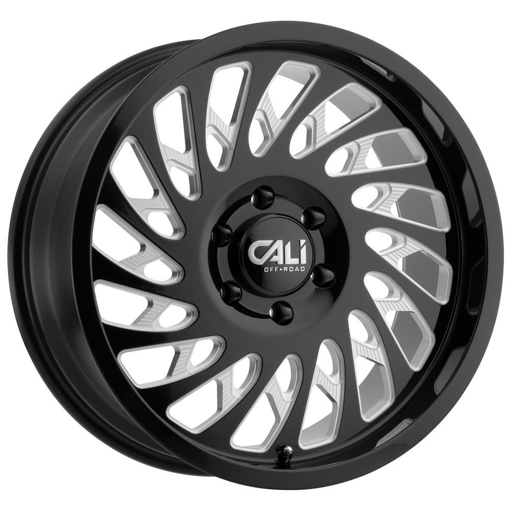 4-Cali Off-Road 9108 Switchback 20x9 6x135 +0mm Black/Milled Wheels Rims 20 Inch
