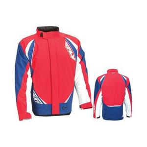 Fly Racing Aurora Jacket (2017) Red/White/Blue (Red, Large)