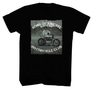 Evel Knievel Sons of Knievel T-Shirt (Black, Small)