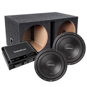 """Rockford Fosgate Bass Package 2 12"""" Subwoofers, 500 watt Amp, and enclosure"""