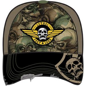 Lethal Threat Army Skull Hat Camo (Brown, OSFM)