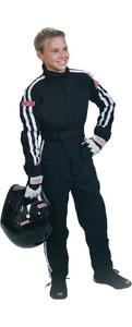 SIMPSON SAFETY Black/White Youth Medium 1 Piece Driving Suit P/N P402211