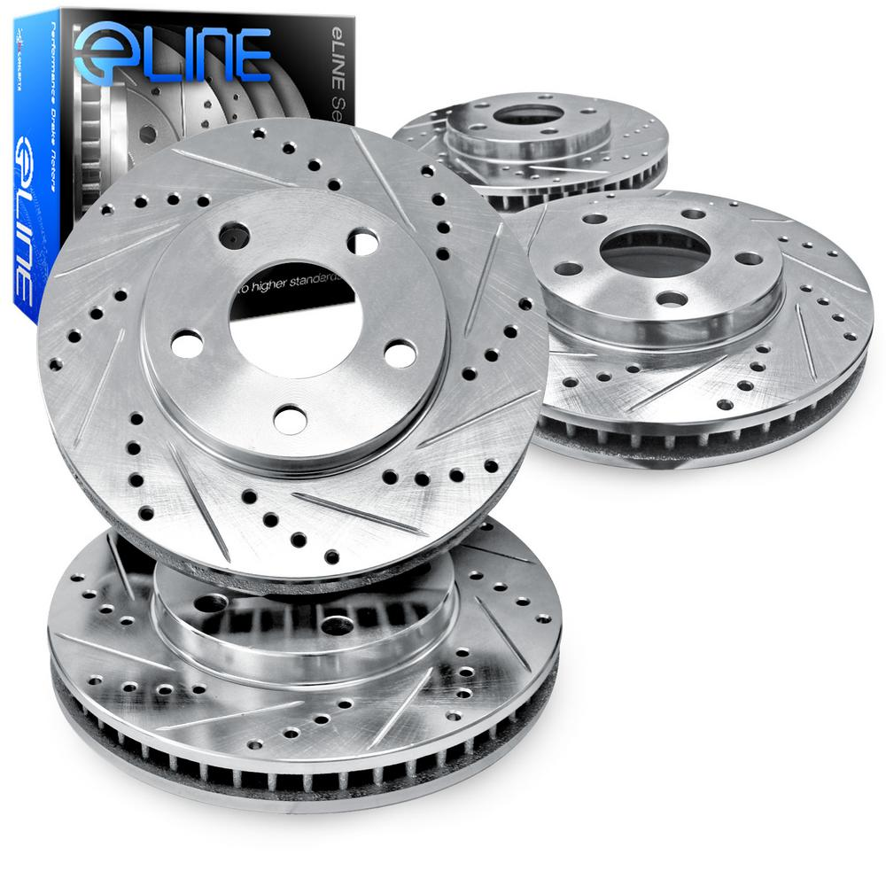 For 2009-2011 Cadillac STS Front Rear eLine Drill Slot Brake Rotors