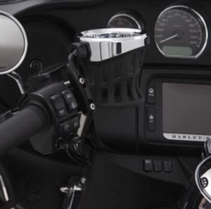 Ciro Black Clean Windshield Trim Bezel for Harley Batwing 14-16