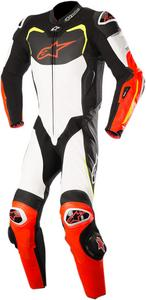Alpinestars GP Pro Leather Racing Suit Black/White/Red/Yellow Mens Size 54