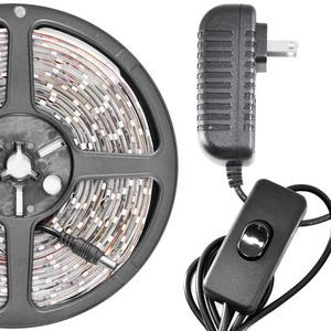Biltek 16.4' Feet Warm White 300 LEDs Light SMD3528 On/Off Switch Control Kit 110V Plug - LED Strip Lighting Reading Strip Night Lamp Bulb Accent Waterproof 3528 SMD Flexible DIY 110V-220V