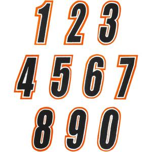 American Kargo 3550-0236 Number Patch - #9 - Orange/Black