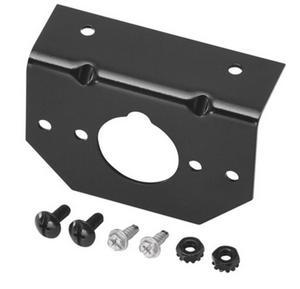Cequent 54-18137 4/5/6-Way Round Mounting Bracket w/Hardware - Car End - Black