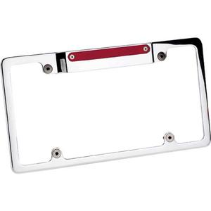 BILLET SPECIALTIES Polished License Plate Frame 3rd Brake Light P/N 55520
