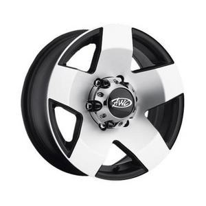 AWC 850-56060 850 Series Aluminum Trailer Wheel - 15x6 - 6/5.5
