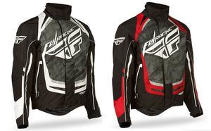 Fly Racing Adult SNX Pro Snowmobile Riding Jacket White/Black Size Medium