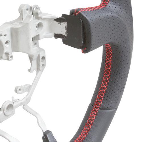 Handkraftd 2013-2017 FRS BRZ D Flat Bottom Steering Wheel-Black w//Red Stitch