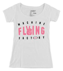 FMF Racing Dueces Womens Scoop Neck T-Shirt (White, X-Large)