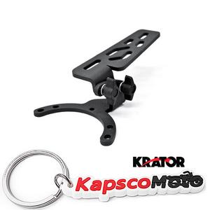 Krator Adjustable Tank Mount for Motorcycles Camera, GPS, Phone, MP3 Player Fits All - Kawasaki Motorcycles + KapscoMoto Keychain